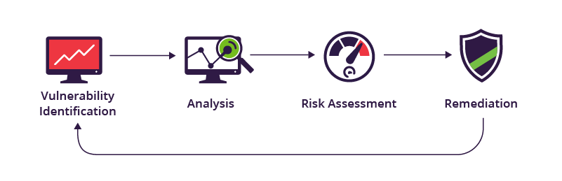 The vulnerability assessment process: analysis, risk assessment, remediation