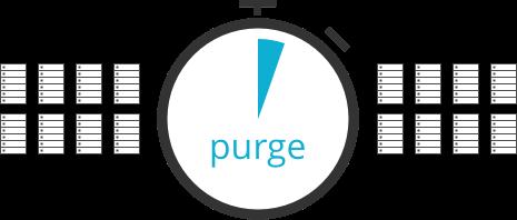Instant cache purge