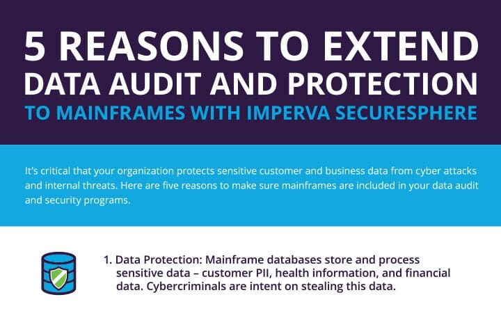 5 Reasons to Extend Data Audit and Protection to Mainframes